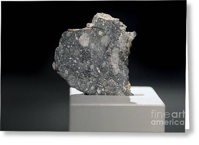 Selenology Greeting Cards - Lunar Meteorite Greeting Card by Detlev van Ravenswaay