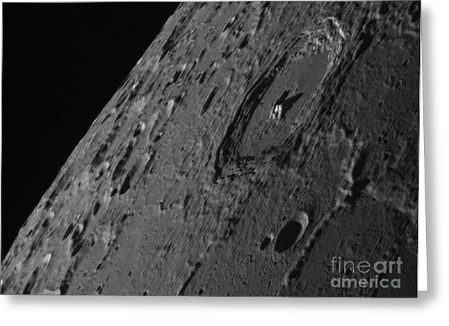 Moon Surface Greeting Cards - Lunar Surface Greeting Card by John Chumack