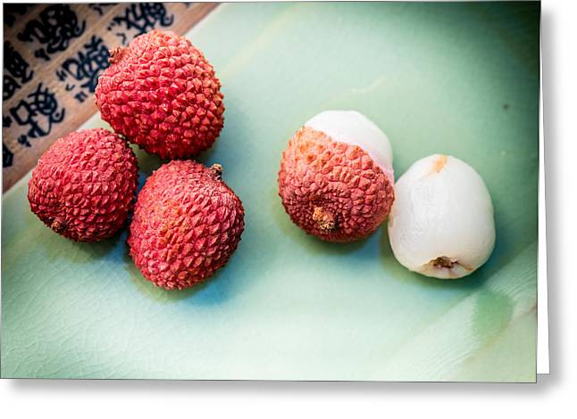 Lychee Greeting Cards - Lychee Fruit Greeting Card by Jim DeLillo