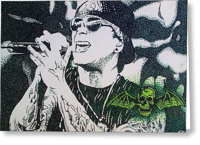 Rocks Drawings Greeting Cards - M Shadows Greeting Card by Jeremy Moore