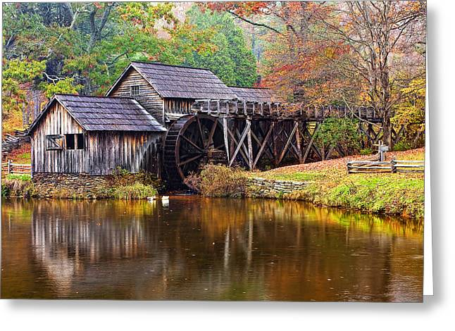 Grist Mill Greeting Cards - Mabry Grist Mill Greeting Card by Marcia Colelli
