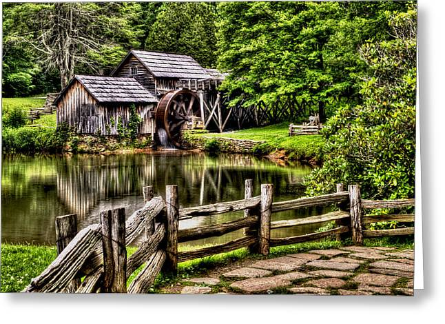 Grist Mill Greeting Cards - Mabry Mill Greeting Card by Steven Faucette