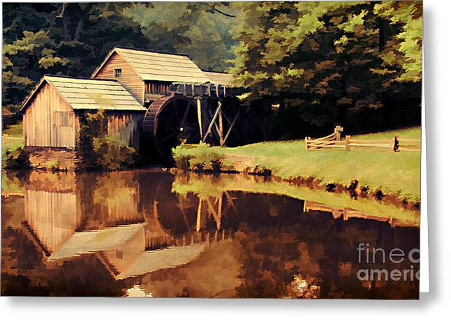 Reminiscent Greeting Cards - Mabrys Mill Greeting Card by Darren Fisher