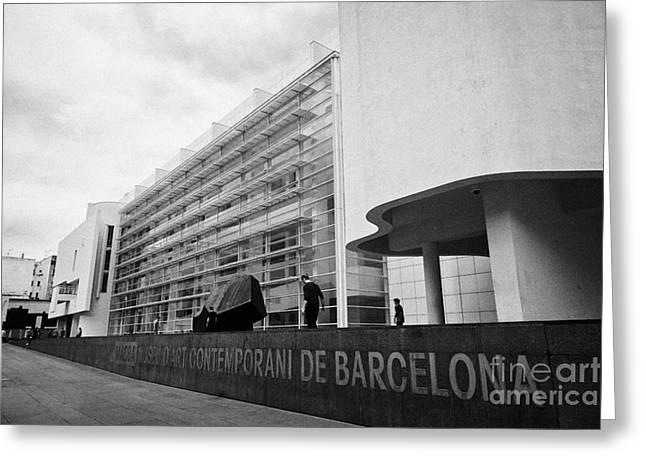 Museu Greeting Cards - macba museu dart contemporani de Barcelona Catalonia Spain Greeting Card by Joe Fox
