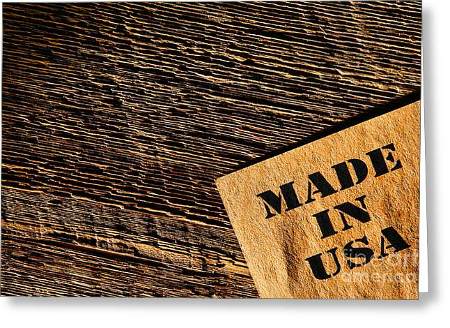 Made in USA Greeting Card by Olivier Le Queinec