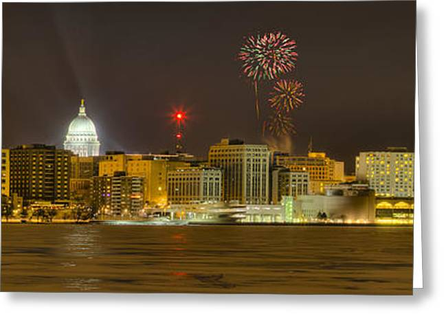 Ralser Greeting Cards - Madison New Years Eve Greeting Card by Steven Ralser