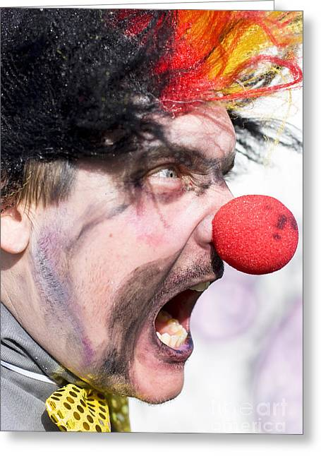 Devilish Greeting Cards - Madness The Clown Greeting Card by Ryan Jorgensen