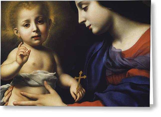 Gospel Greeting Cards - Madonna and Child Greeting Card by Carlo Dolci