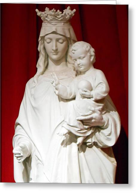 Child Jesus Photographs Greeting Cards - Madonna and Child Greeting Card by Michael Durst