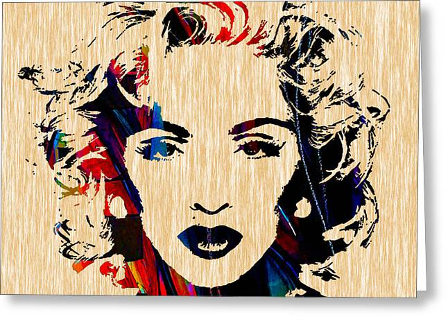 Recently Sold -  - Pop Mixed Media Greeting Cards - Madonna Collection Greeting Card by Marvin Blaine