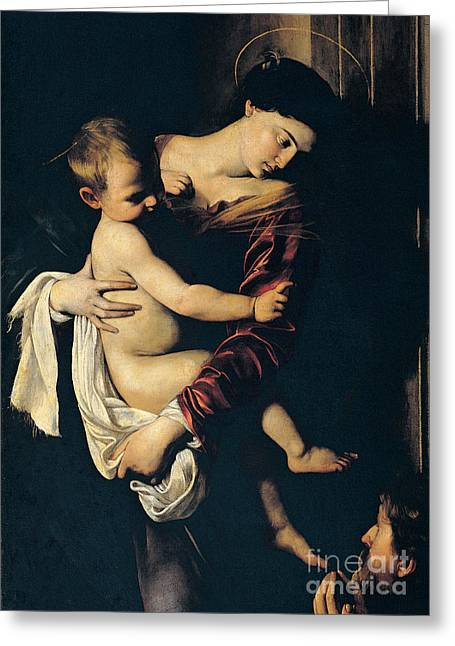 Embrace Greeting Cards - Madonna di Loreto Greeting Card by Caravaggio