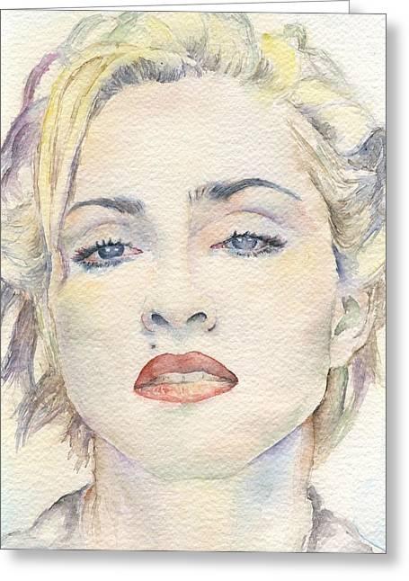 Nude Marilyn Monroe Greeting Cards - Madonna Greeting Card by Marina Sotiriou