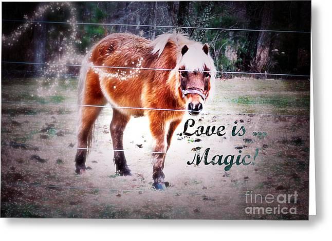 Love The Animal Greeting Cards - Magic Pony - Love Greeting Card by Anita Faye