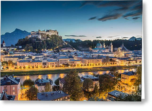 Salzburg Greeting Cards - Magic Salzburg Greeting Card by JR Photography