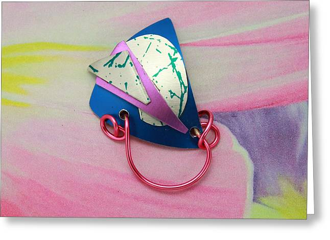 Wrap Jewelry Greeting Cards - Magnetic Eyeglass Holder Greeting Card by Laura Wilson
