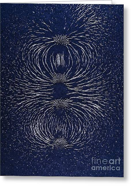 Experiment Greeting Cards - Magnetic Repulsion Greeting Card by Martyn F. Chillmaid