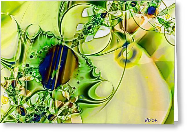 Abstract Geometric Greeting Cards - Magnetic Storm Greeting Card by Nikola Durdevic