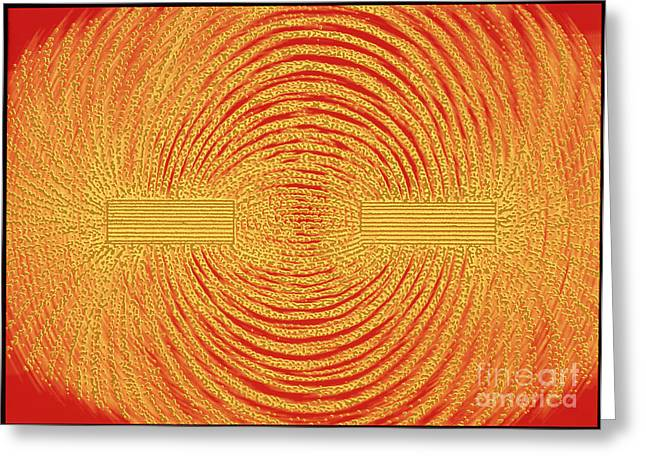 Magnetic Field Greeting Cards - Magnetism Greeting Card by Alfred Pasieka
