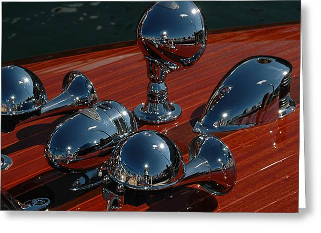 Mahogany And Chrome Greeting Card by Steven Lapkin