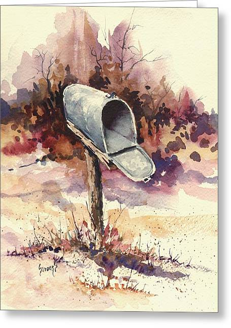 Mailbox Greeting Card by Sam Sidders