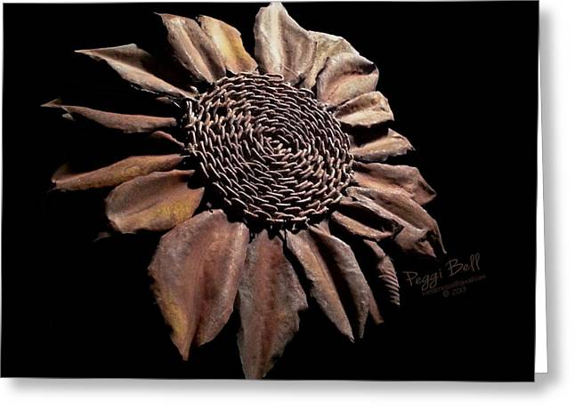 Weld Sculptures Greeting Cards - Mailbox Sunflower Greeting Card by Peggi Bell