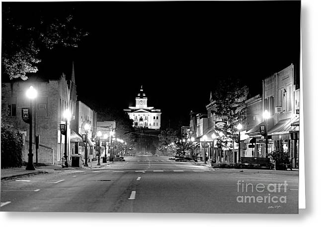 Wcu Greeting Cards - Main Steet Sylva 2003 Greeting Card by Matthew Turlington