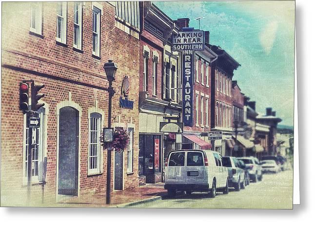 Main Street Greeting Cards - Main Street Lexington Greeting Card by Kathy Jennings