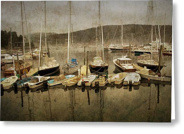Randy Greeting Cards - Maine Harbor Greeting Card by Randall Nyhof