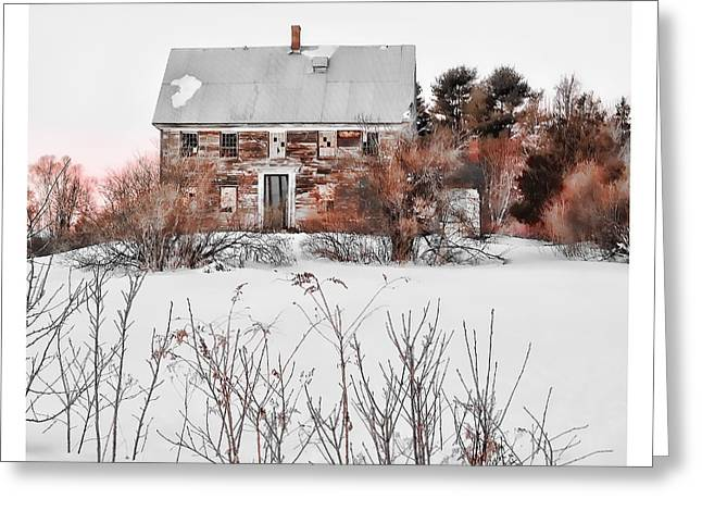 Rural Maine Roads Photographs Greeting Cards - Mainiac In Decline Greeting Card by Richard Bean