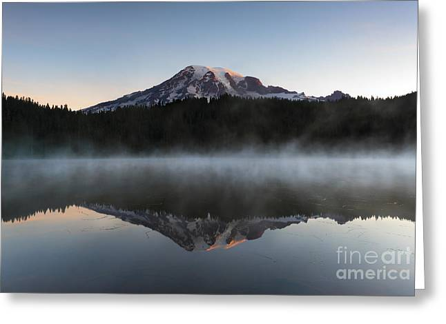 Mt Greeting Cards - Majestic Dawn Greeting Card by Mike Dawson