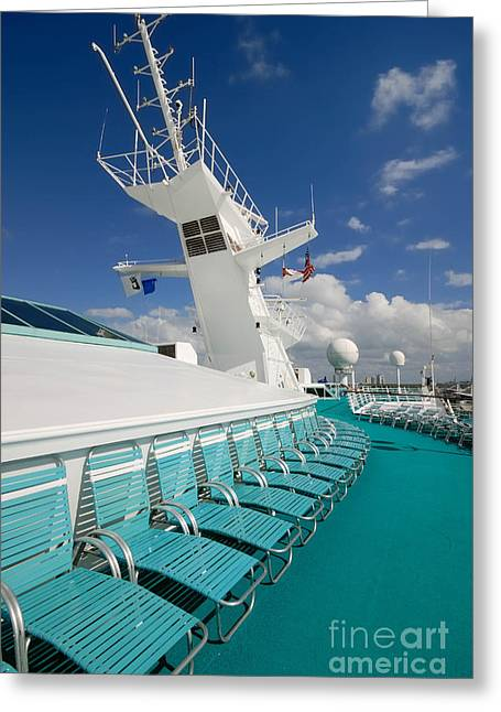 Passenger Ship Greeting Cards - Majesty of the Seas Upper Deck Greeting Card by Amy Cicconi