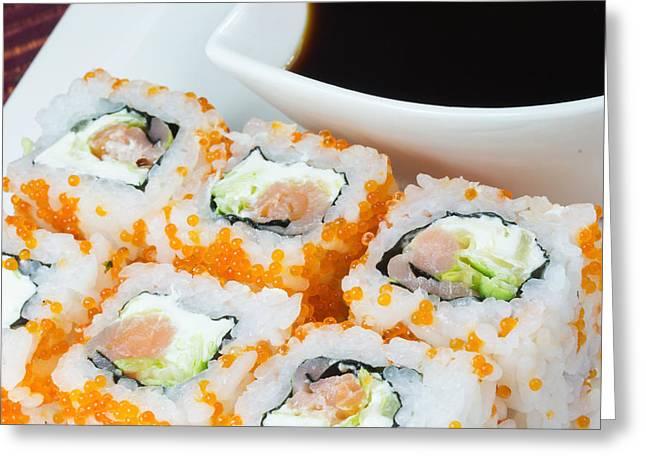 Wasabi Greeting Cards - Maki Sushi  Greeting Card by Jaroslav Frank