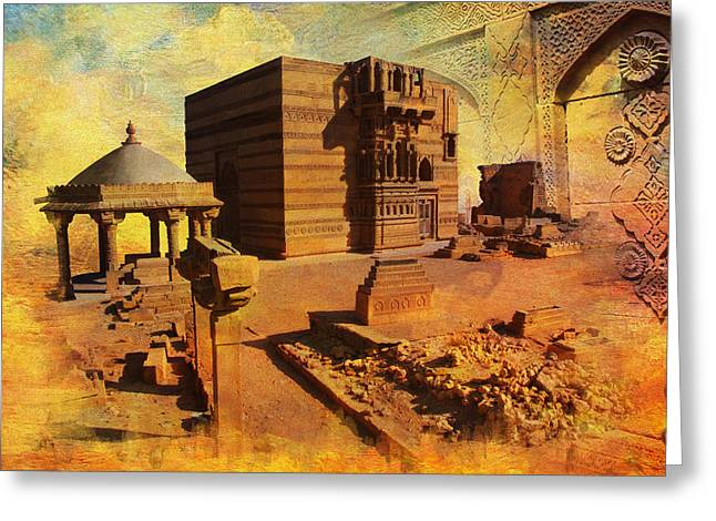 Makli Hill Greeting Card by Catf