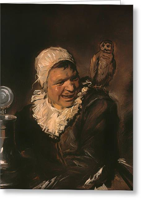 Stein Greeting Cards - Malle Babbe Greeting Card by Frans Hals