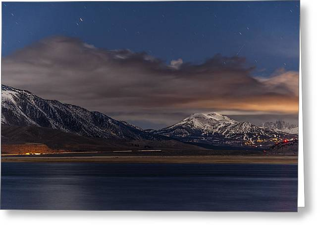 Night Photography Greeting Cards - Mammoth at Night Greeting Card by Cat Connor