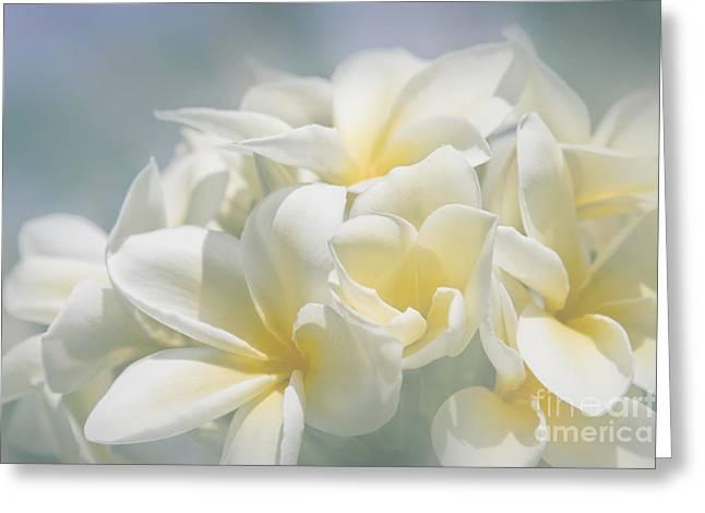 Tropical Flowers Of Hawaii Greeting Cards - Manakai Greeting Card by Sharon Mau