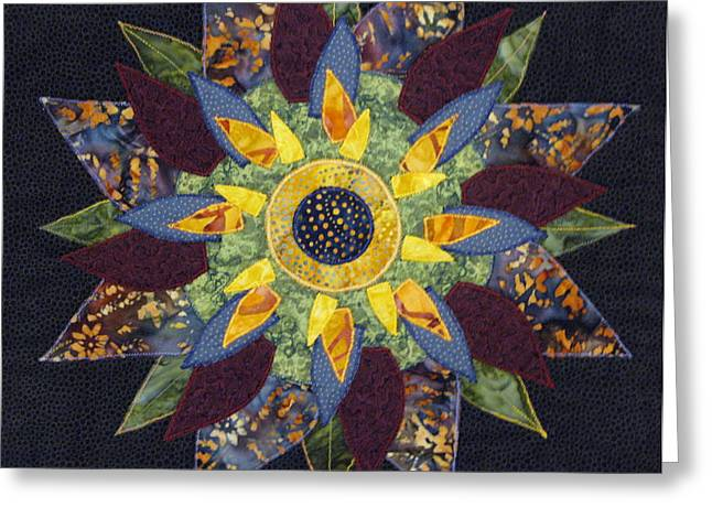 Mandala No 2 Sunflower Greeting Card by Lynda K Boardman