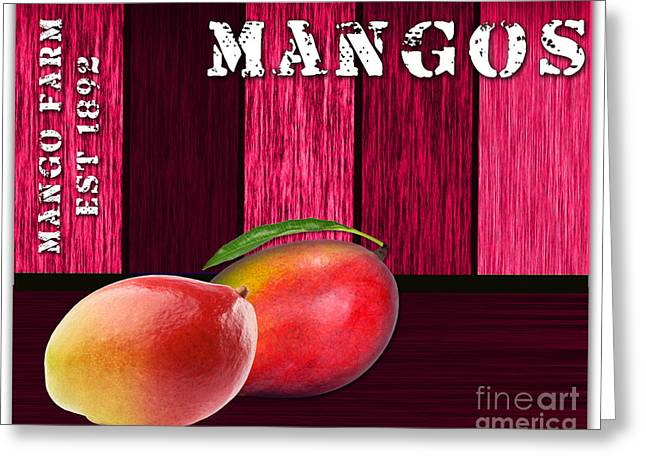 Mango Greeting Cards - Mango Farm Sign Greeting Card by Marvin Blaine