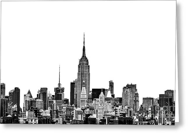 New York Canvas Photographs Greeting Cards - Manhattan Skyline Greeting Card by John Farnan