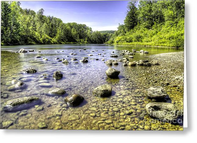 North Country Trail Greeting Cards - Manistee River Greeting Card by Twenty Two North Photography