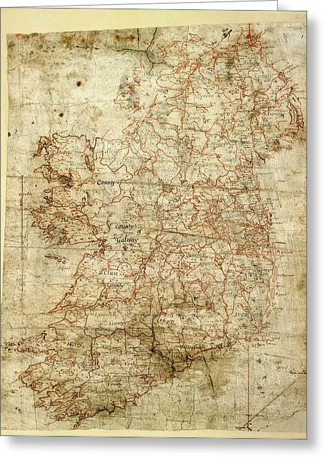Map Of Ireland Greeting Card by British Library