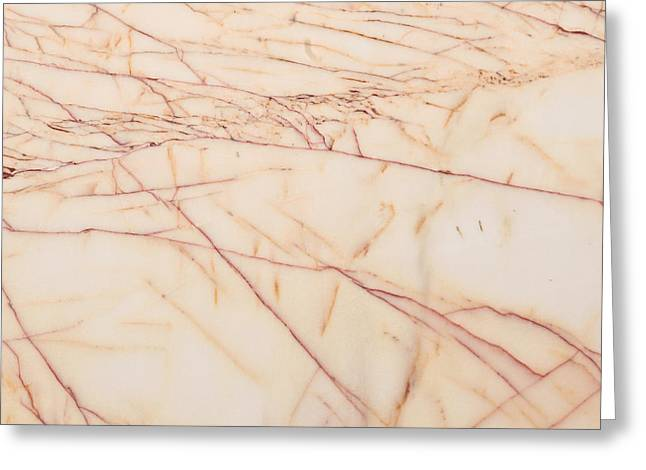 Tiled Greeting Cards - Marble background Greeting Card by Tom Gowanlock