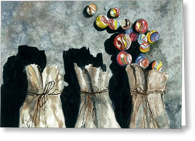 Award Winning Art Greeting Cards - Marble Bags Greeting Card by Steven Schultz