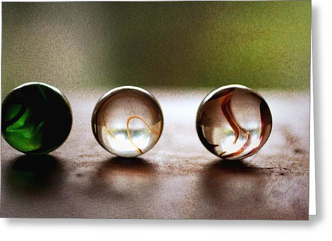 Marble Eye Greeting Cards - Marbles170 Greeting Card by Michael James Greene