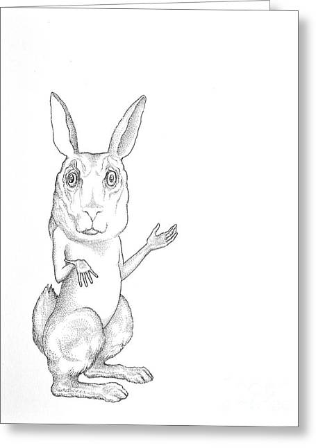 March Hare Greeting Cards - March Hare Greeting Card by Linda Baker-Cimini