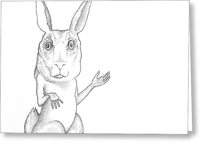 MARCH HARE Greeting Card by Linda Baker-Cimini
