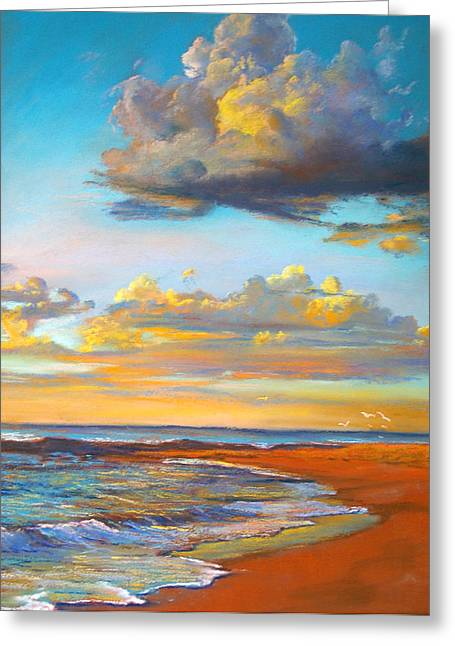 Lynda Robinson Greeting Cards - Marengo Sunrise Greeting Card by Lynda Robinson