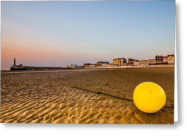 Seafront Greeting Cards - Margate harbour Greeting Card by Ian Hufton