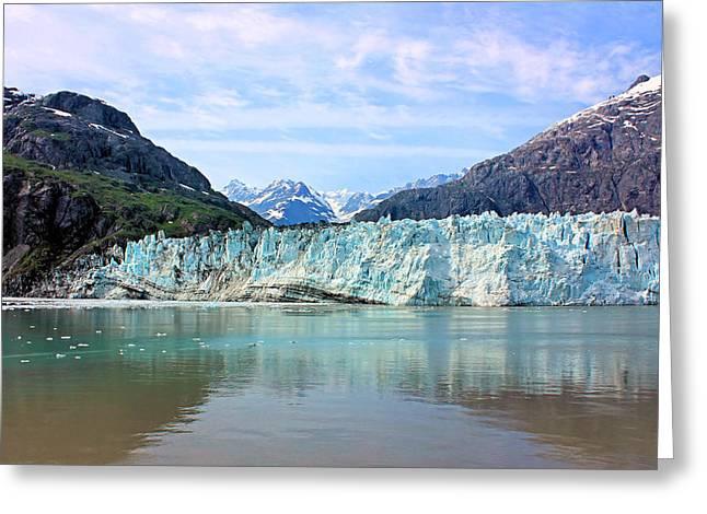 Glacier Bay Greeting Cards - Margerie Glacier Greeting Card by Kristin Elmquist