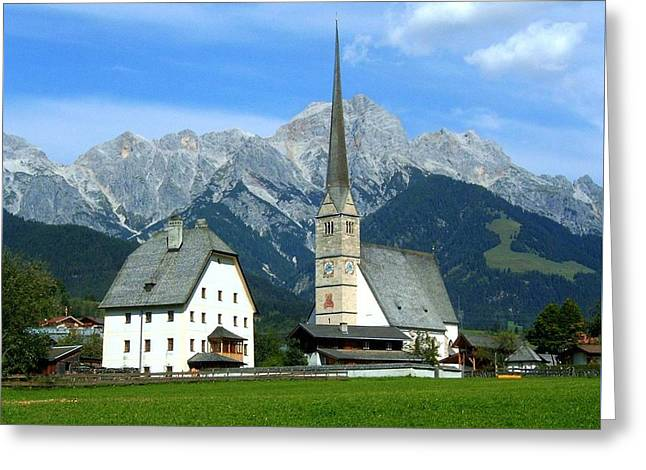 Maria Alm Greeting Card by Juergen Weiss